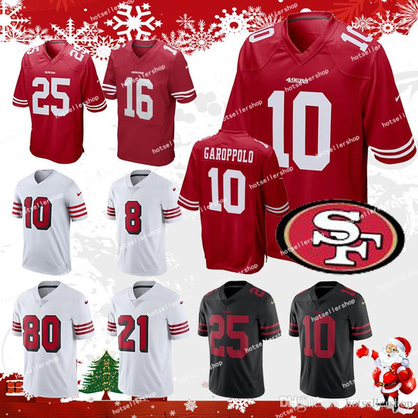 reputable site 4d422 6f864 2018 49ers San Francisco 10 Jimmy Garoppolo Football Jerseys 7 Colin  Kaepernick 25 Richard Sherman 56 Reuben Foster 16 Montana 80 Rice Top Sales  From ...