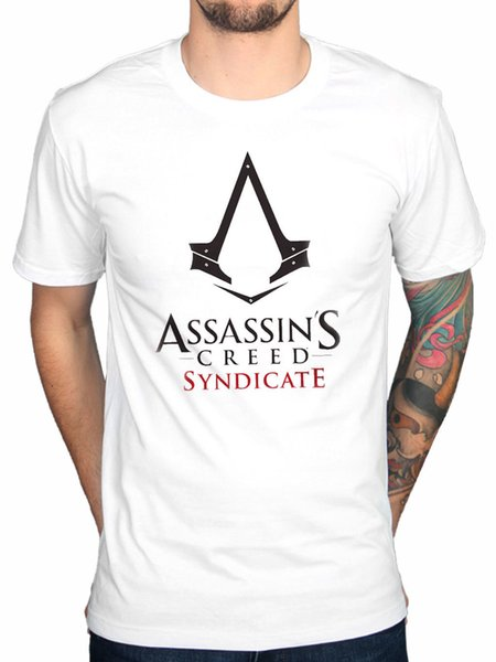 Official Assassins Creed Syndikittene Logo T-Shirt Chronicle Rogue Unity Identity Tees Men'S Clothing Big Size:S-3xl T Shirt