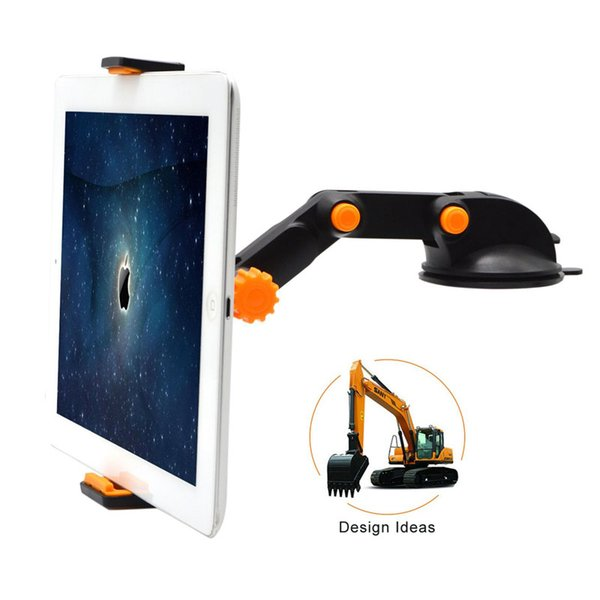 Long Arm Universal Excavator Shape Car Phone Holder Vehicle Windshield Mount Stand Cradle For Cell Phone GPS Mini Tablets