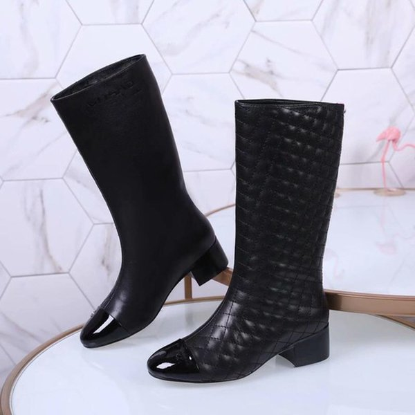 Knee High Flat Boots Color Long Booties Female Fashion Brand Leather Womens Boot Women Shoes