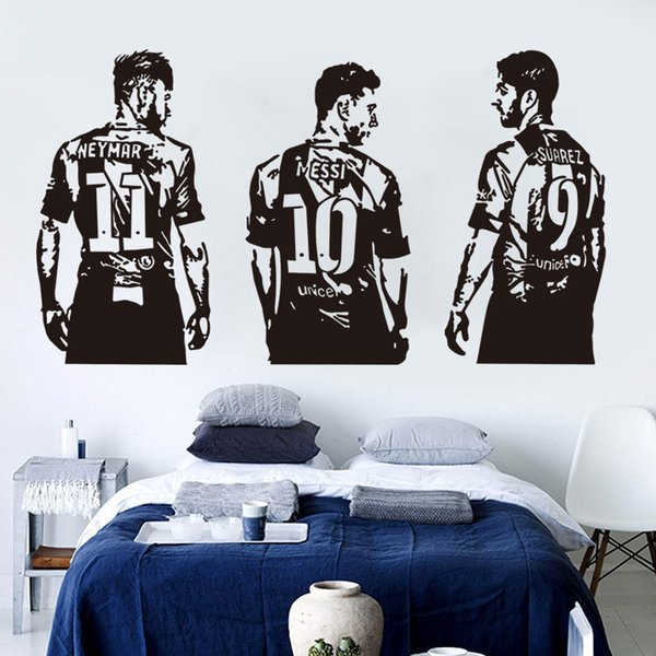 Vinyl Figure all Stickers Messi Nrymar Suarez Football Sports Wall Decal Murals for Living Room kids Room Decoration