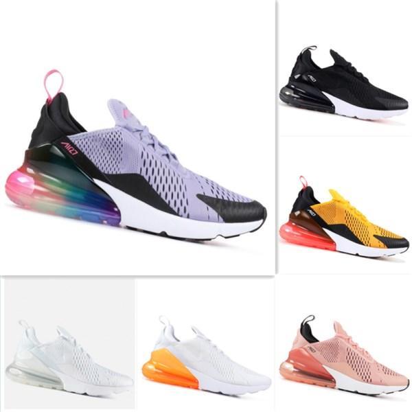 2018 Max270 malla media Palm Aircushioned zapatillas de absorción de choque Max270 malla hombres y mujeres zapatillas de deporte ocasionales