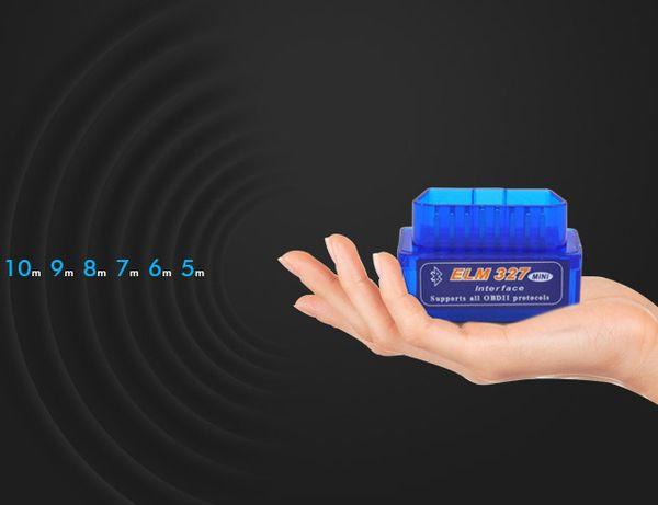 100 adetgrup Süper Mini ELM327 Bluetooth ELM 327 BT Süper Mini ELM327 Bluetooth OBDII Teşhis Tarayıcı Version2.1
