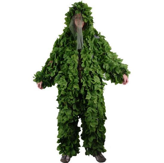Forest Design Camouflage Ghillie Suit Grass Leaves type hunting clothing yowie Sniper 3D bionic camouflage suit BR440