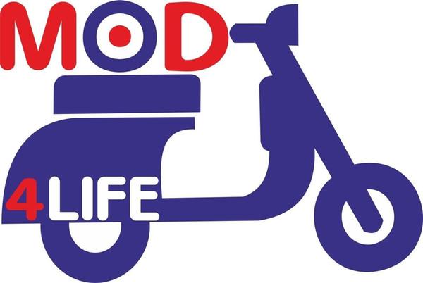 MOD 4 LIFE MOTOR SCOOTER T SHIRT MODS ROUNDEL RUDE BOYS SKA MUSIC 2 TONE T-SHIRT Cool Casual