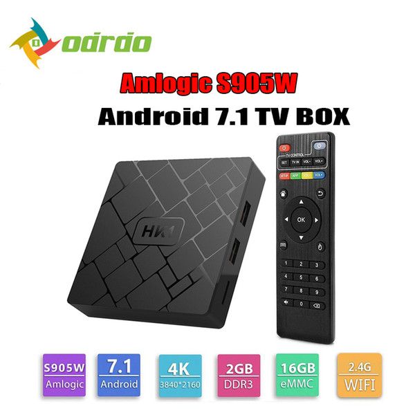 Amlogic S905W Quad Core TV Box Android 7.1 2G 16GB 4K Media Player Supports 2.4G Wifi HK1 Set Top Box TVbox HDMI Cable