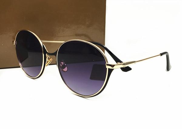 Nuevo diseñador de moda gafas de sol de marco grande marco de metal redondo de calidad superior gafas de sol decorativas estilo popular envío gratis