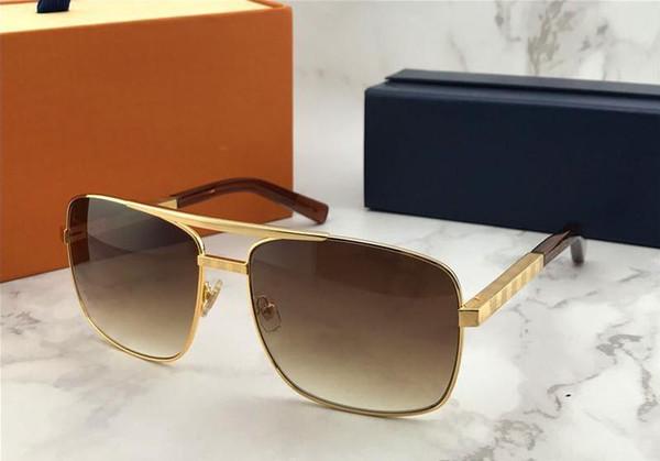 e76714b65dad New Popular Classic Men Outdoor Luxury Vintage Sunglasses attitude gold  Square design frame uv400 protection eyewear