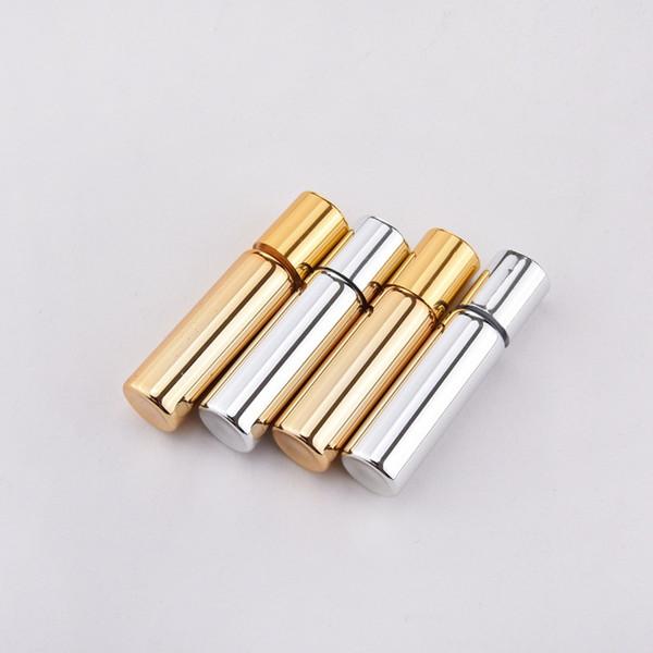 Prata de ouro 5 ml Recarregável Portátil Mini frasco de perfume de Alumínio Viajante Spray Atomizador Vazio Parfum Atomizador Pulverizador Container lin3974