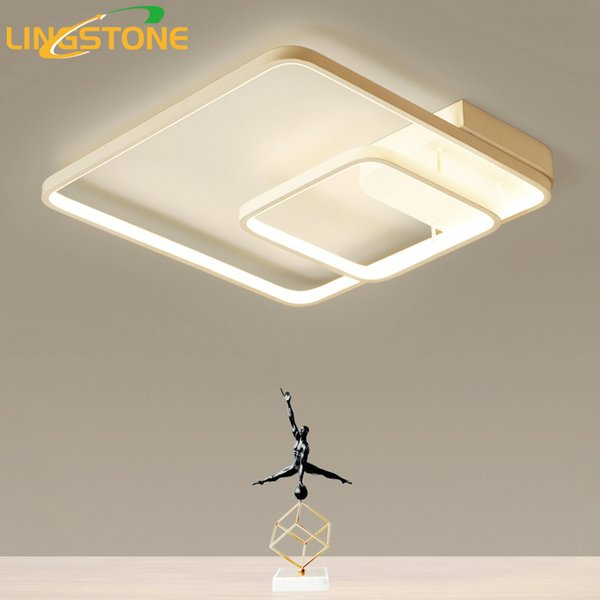 2019 Led Square Ceiling Lamps For Living Room Kitchen Flush Mount Modern Ceiling Lights With Remote Control Indoor Lighting Fixtures From Amosty