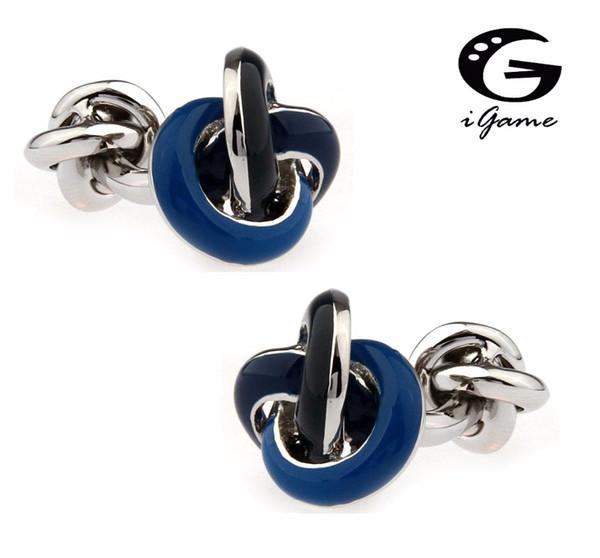 компания iGame цена завода в розницу дизайнер запонки синий цвет латунь Материал Металл узел дизайн Бесплатная доставка