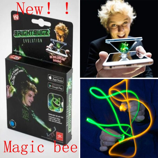 2018 Bright BugZ Magically Flies From Hnad To Hand Magic Lights 3D Bees Download APP Toy Lamp Kit Illusion Trick Funny Kids Xmas