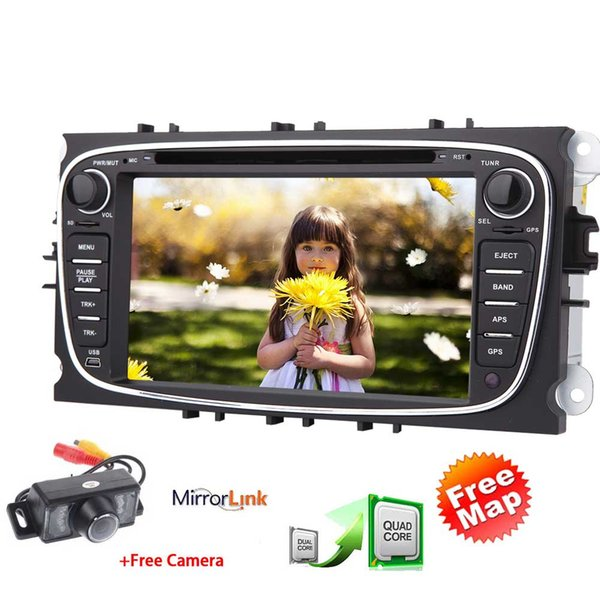 HD 7'' Touch Screen Car DVD Player Quad Core Android6.0 Car Stereo for Ford Focus Double Din GPS Navigation Auto Radio Bluetooth