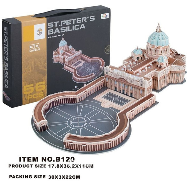 Building Block Puzzle St. Peter's Basilica World Architecture DIY Construction Brick Toys Scale Models Sets City for Children