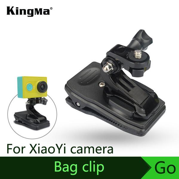 abrazadera de montaje KingMa NUEVO Llega el Clip de bolsa Montaje rápido de abrazadera para cámara de acción XiaoYi Accesorio con adaptador Envío gratis