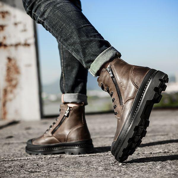 Und Style Wasserdicht Stiefeletten Herren 043 Naturleder Herbst Winter Männer Qualität Schuhe Hh Worksafety Stiefel Großhandel Vintage Von bgvyI6Yf7m