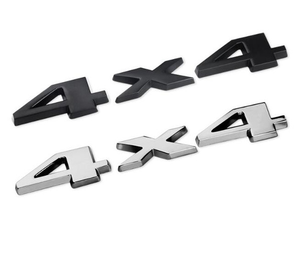 Black Silver DSYCAR Plastic+aluminum 3D 4x4 Displacement Car stickers Logo Emblem Badge Truck Auto Motor Car Styling Sticker Decal
