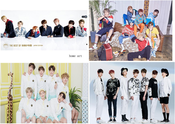 BTS Poster Clear Image Wall Stickers Home Decoration Good Quality Prints White Coated Paper home art Brand MU47