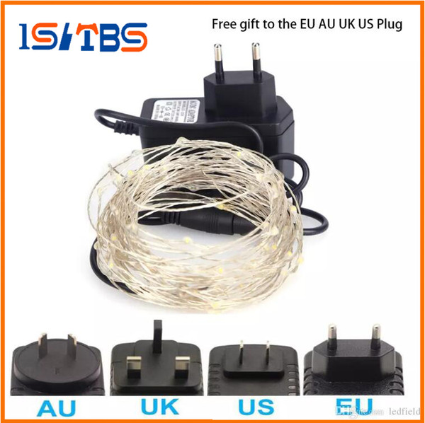 Christmas light LED String Lights 5M 10M DC 12V Silver Wire Fairy Garland LED Christmas Lights Indoor Outdoor Wedding Party Decoration
