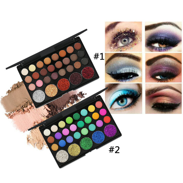 POPFEEL 29 Color Glitter Diamond Luminous Eyeshadow Waterproof Cosmetics Shiny Eye Shadow Powder Eyes Makeup Tool