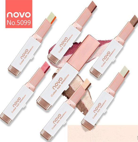 Drop Makeup NOVO velvet gradual change double color eyeshadow pen lazy novo eye shadow Stick 6 different colors Brand velvet Tone Gradient