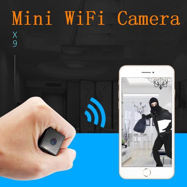 Kaliteli X9 HD 1080 P Geniş Melek Lens WiFi Mini Kamera Ses Video Kaydedici Dijital Kamera Gece Görüş Mini DV kamera