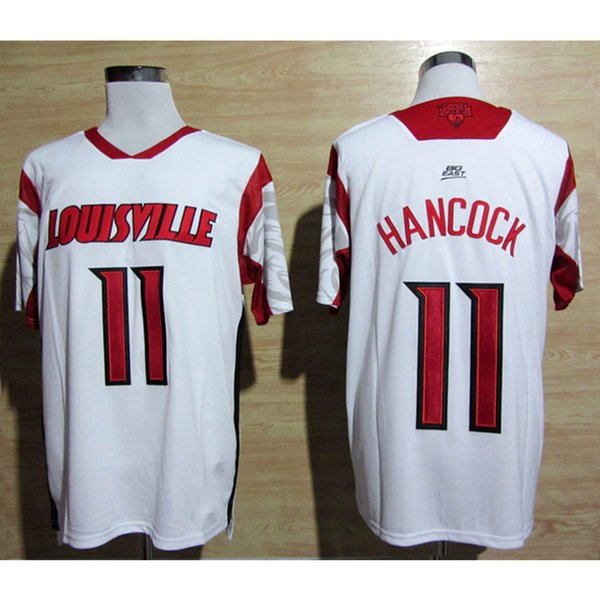 Mens Louisville Cardinals Luke Hancock Stitched Name&Number American College Football Jersey Size S-3XL