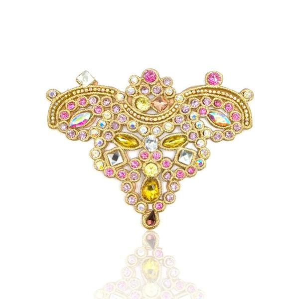 Zapatos de bricolaje Accesorios de joyería Mariposa de moda Shies Flor con encajes bordados de resina de vidrio coloreado encantos de los encantos