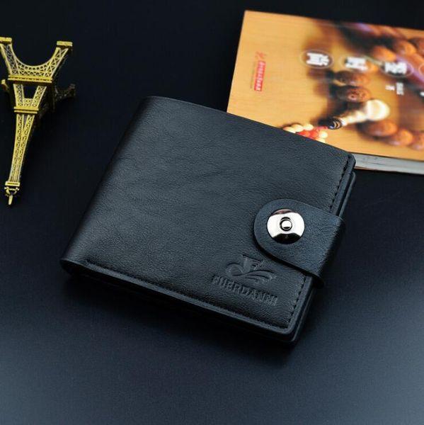 Wholesale For Men Short Wallet Men's Casual Fashion Simulation Leather Wallet Men Wallets Purse Suit Bags Designer Wallet Free Shipping