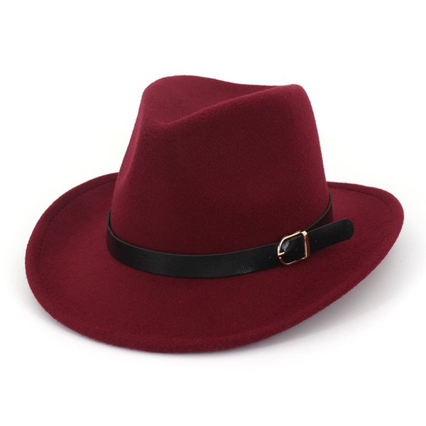 New winter wool women mens derby hat classical gentleman wide brim fedora hats for floppy cloche top jazz caps