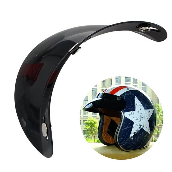 Universal 3 Snap Visor Gesicht schwarz Schild Objektiv für Motorradhelme offenes Gesicht