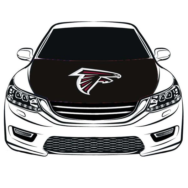 atlanta falcons flag car hood cover 3.3x5ft,engine flag,elastic fabrics can be washed