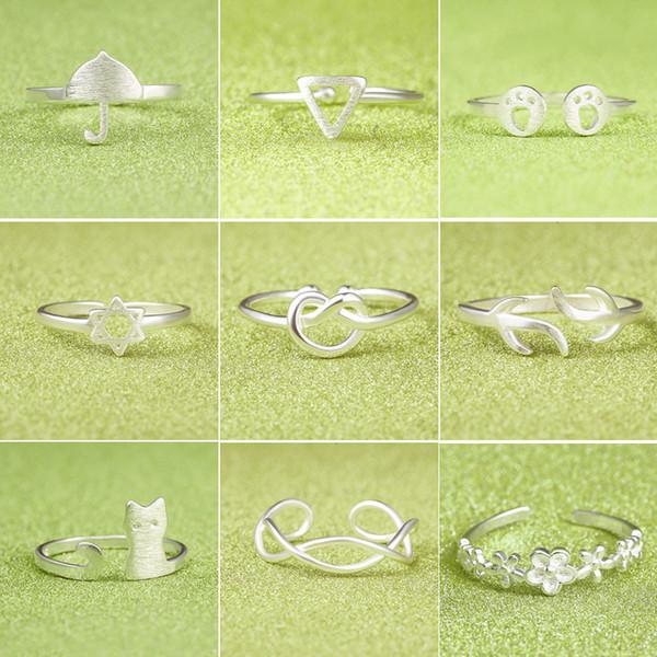 Anelli dello studente congiunto argento di disegno creativo di seta all'ingrosso giapponese e coreano di multi stile