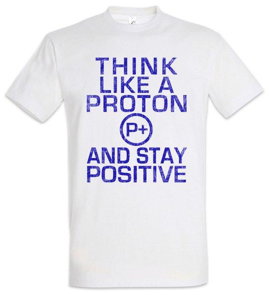 Подумайте, как учитель Протон футболку весело физик профессор науки ученый 2018 высокое качество повседневная с коротким рукавом Марка мужчины Майка
