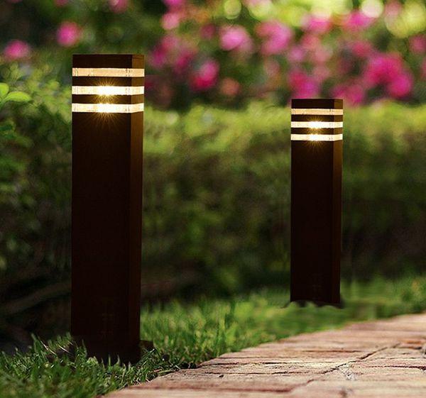 parc de jardin carré moderne extérieur étanche à l'eau LED lumière 110V 120V 220V 230V 240V 12V 24V LED lumière de poste de pelouse extérieur LLFA