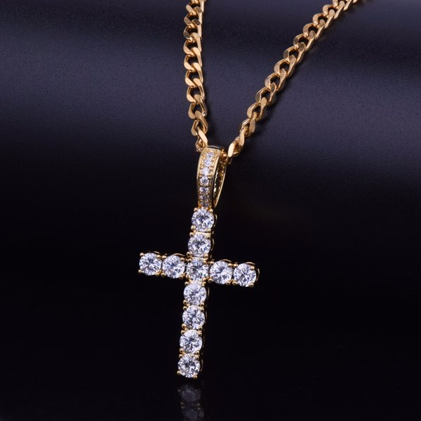 gold pendant with 20inch cuban chain