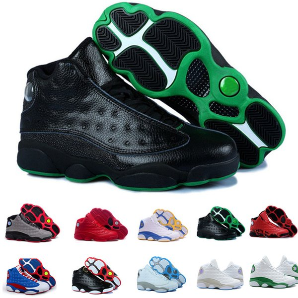 Compre Envío Gratis 2018 Nike Air Jordan AJ13 11 12 4 5 6 Zapatos De Baloncesto Baratos Hombres Mujeres Miedo Cemento Oreo Black Cat Sneaker Sport