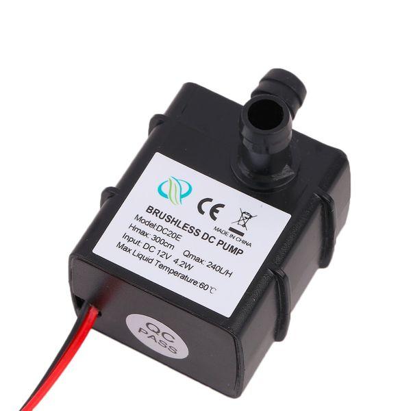 Pompa elettrica sommergibile dell'acqua di CC 12V 240L / H di Freeshipping Mini pompa elettrica ultra silenziosa nera dell'hardware Pompa idraulica professionale dell'acquario