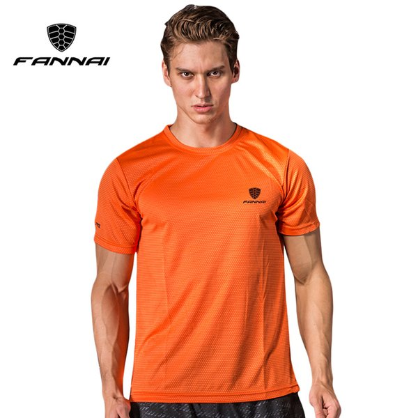 FANNAI t shirt men Sport Tops Tees Quick Dry Running Shirts men basketball T-shirt Men's Custom sports short sleeve MMA Tee