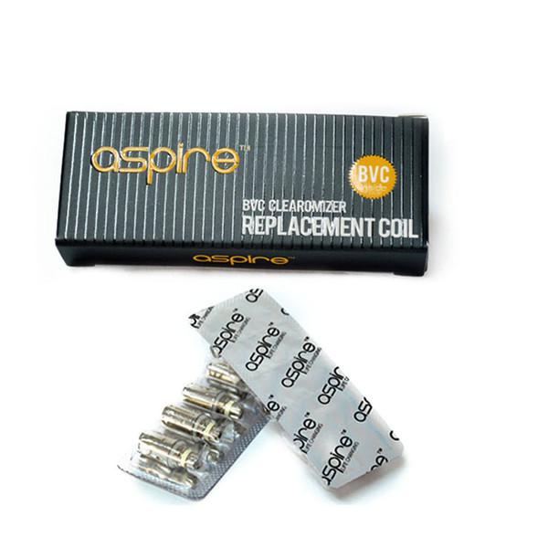 Autentico più nuovo Aspire Coil BVC Sostituzione Bobine Atomizzatore Filo sigaretta elettronica Atomizzatore Core Aspire BVC Bobina Testa E Sigaretta Bobina