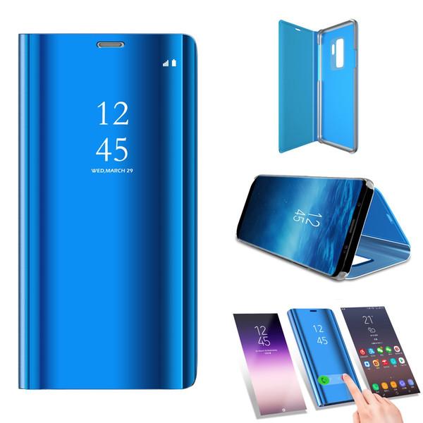 Para Samsung Galaxy S9 Vista de la ventana Maquillaje Espejo Plating Stand Característica Delgado Cuerpo Completo Flip protector Funda para teléfono Funda para teléfono Iphone x 8 Plus