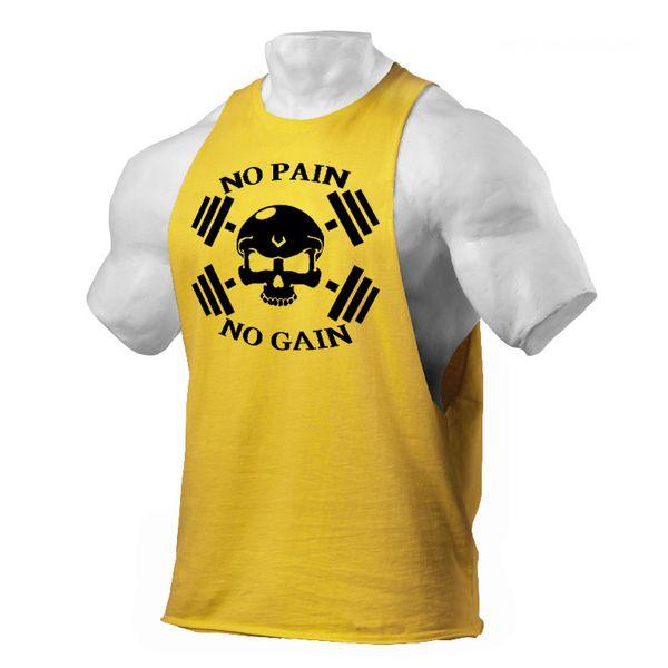 Stylish printed vest for men fitness wear sleeveless undershirt coon skull bodybuilding cheap clothing male shirt streetwear