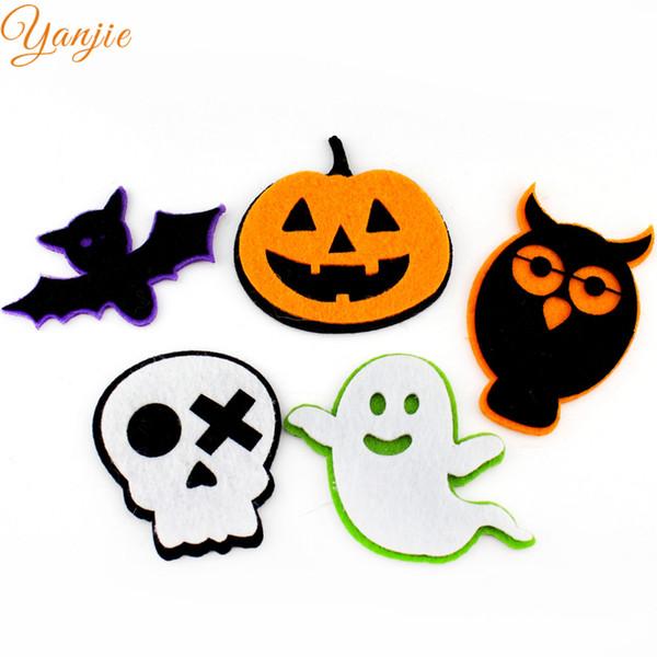 Halloween feutre Pads Pour Filles Et Enfants DIY Bandeau Cheveux Arc Chapeaux Accessoires Pour Cheveux 50pcs / lot