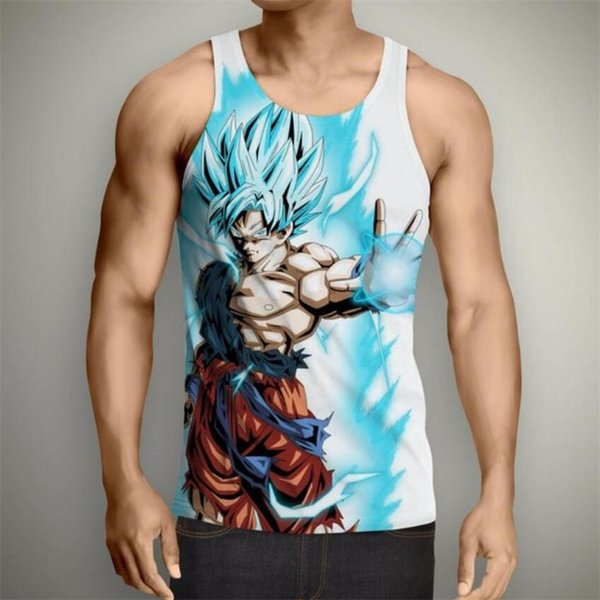 Women Dragon Ball Z Goku Vegeta Singlet Pants T-Shirt Tank Top Sleeveless Hoodie