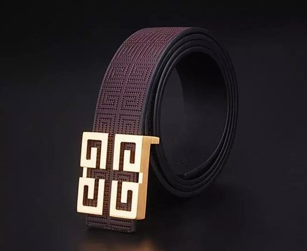 Leather belt male leather 4G buckle ji jia pure copper buckle layer of cowhide belt male business British Korean version of belt