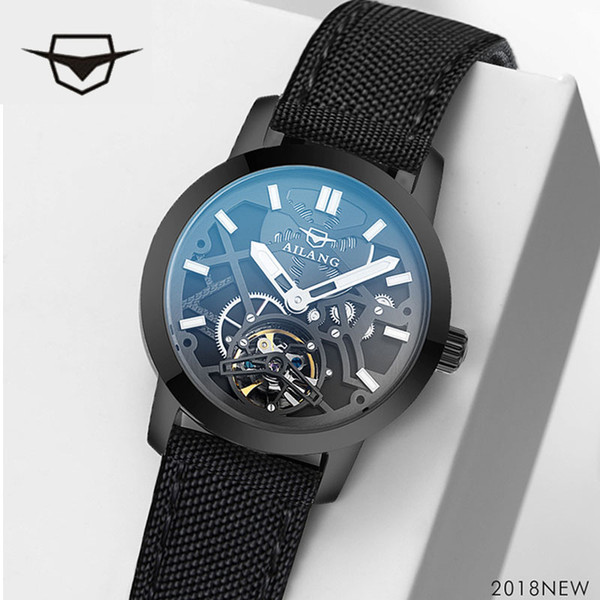 AILANG top men's watch brand luxury sports watch, Swiss gear S3 frontier men's wrist watch, diver watch one-hour belt