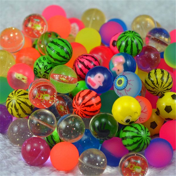 best selling Cool Mini Mixed Bouncing Balls Kids Rubber Toy for Children Outdoor Bath Toys Sports Games Elastic Jumping Antistress Balls 2018