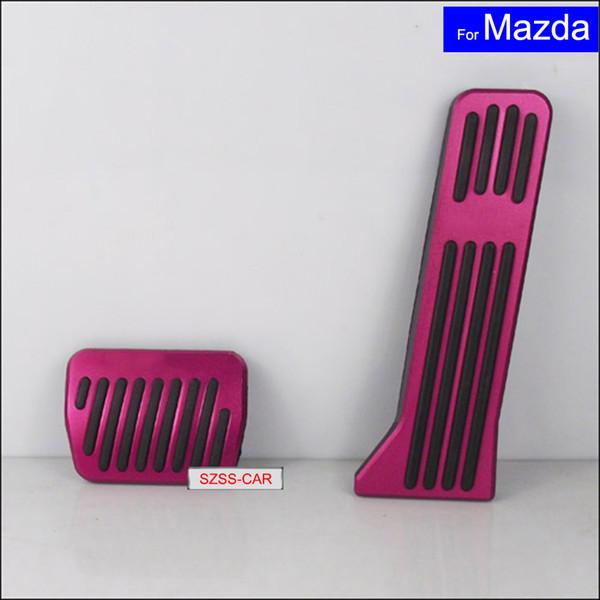 2 Pcs Car Aluminium Alloy Petrol Clutch Fuel Brake Pad Foot Pedals Rest Plate for Mazda ATENZA / Axela Auto Pedals Free Shipping