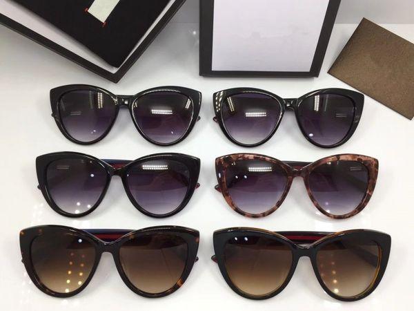 GG0297 designer sonnenbrille sonnenbrille für frauen herren CR39 objektiv cat eye gläser vollbild samt gläser fall microfiber tuch mit box