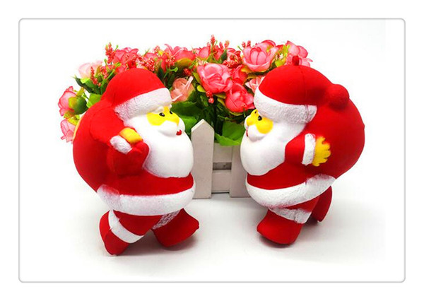 Squishy Christmas Bear With Gift Arrived kawaii Squishy Christmas Bear Soft Slow Rising Toys Rare Squishy Kids Fun toy Gift Wholesale